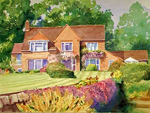 commissioned painting private house Barlow